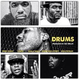 HHS1987 - Drums Ft Peedi Crakk, E. Ness, Quilly Millz & HollowMan (Prod by Riz Delux) Cover Art