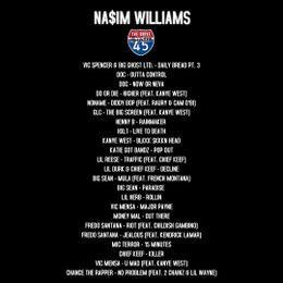 Na$im Williams - NA$IM WILLIAMS X THE DRIVE ON SHADE 45 MIX (1/8/17) Cover Art