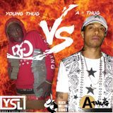 A-Thug - YOUNG THUG VS A-THUG (MEGASTARBRAND MIXTAPE) #WHOSTHEBESTMCEE VOL 1 Cover Art
