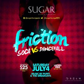 Friction (Soca Vs Dancehall) July 4th Promo Mix