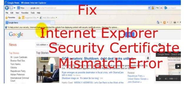 Call 1-888-311-3841 To Fix Security Certificate Error in