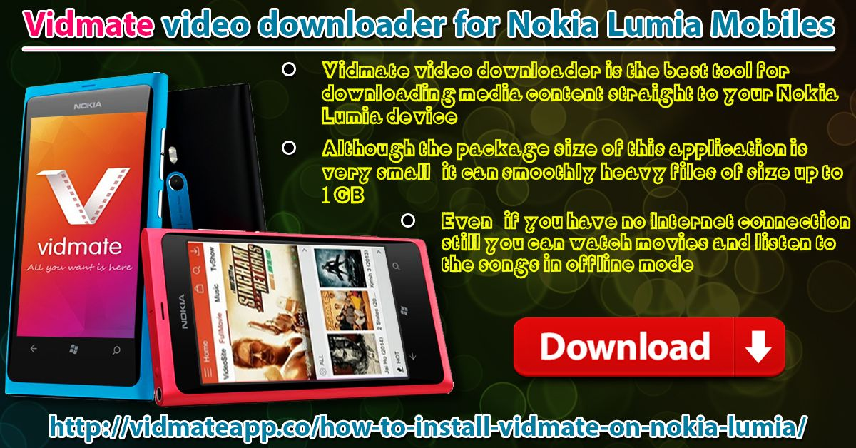 Vidmate Video Downloader For Nokia Lumia Mobiles by Vidmate
