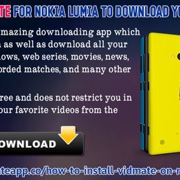Vidmate App - Install Vidmate for Nokia Lumia to Download YouTube