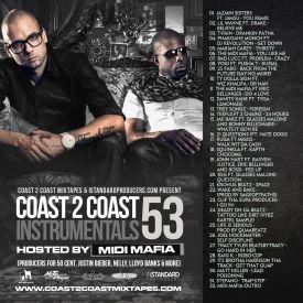Coast 2 Coast Mixtapes - Coast 2 Coast Instrumentals Vol. 53 Cover Art