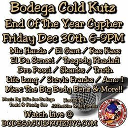 Deltron - Bodega Cold Kutz End Of The Year Cypher 2016 Cover Art