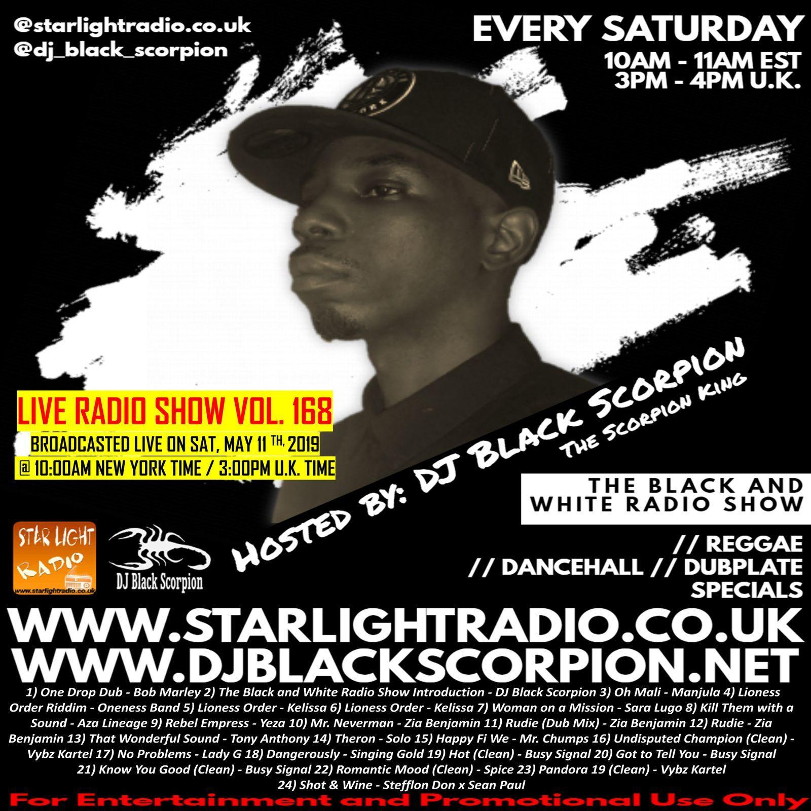 DJ Black Scorpion (Reggae x Dancehall) on Star Light Radio (5-11-19