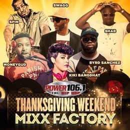 "DJ Spin ""The Vibe Setta"" - Mixx Factory Thanksgiving Power 106.1 #5 Cover Art"