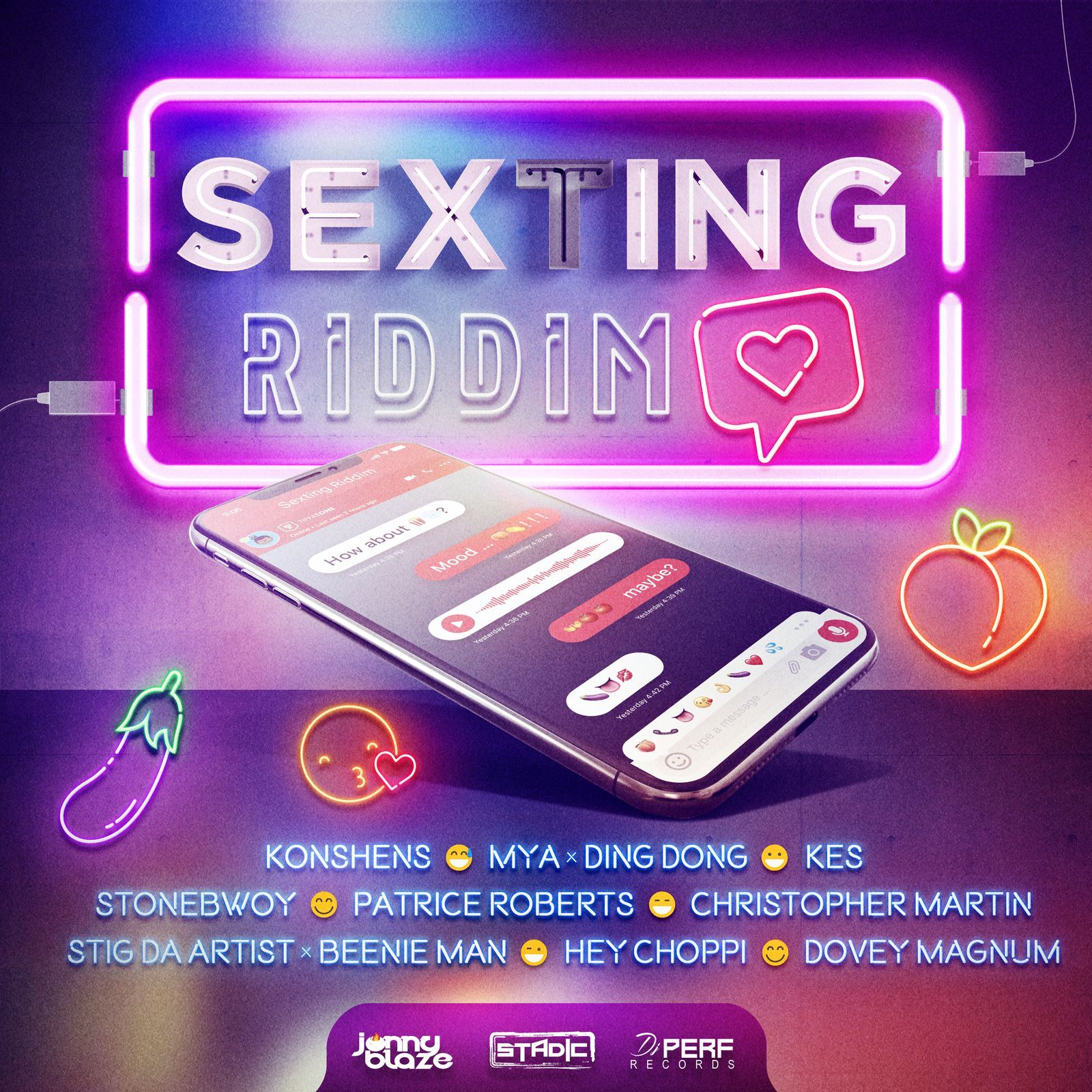 Sexting Riddim Instrumental by Jonny Blaze, Stadic & DJ Perf from DJ