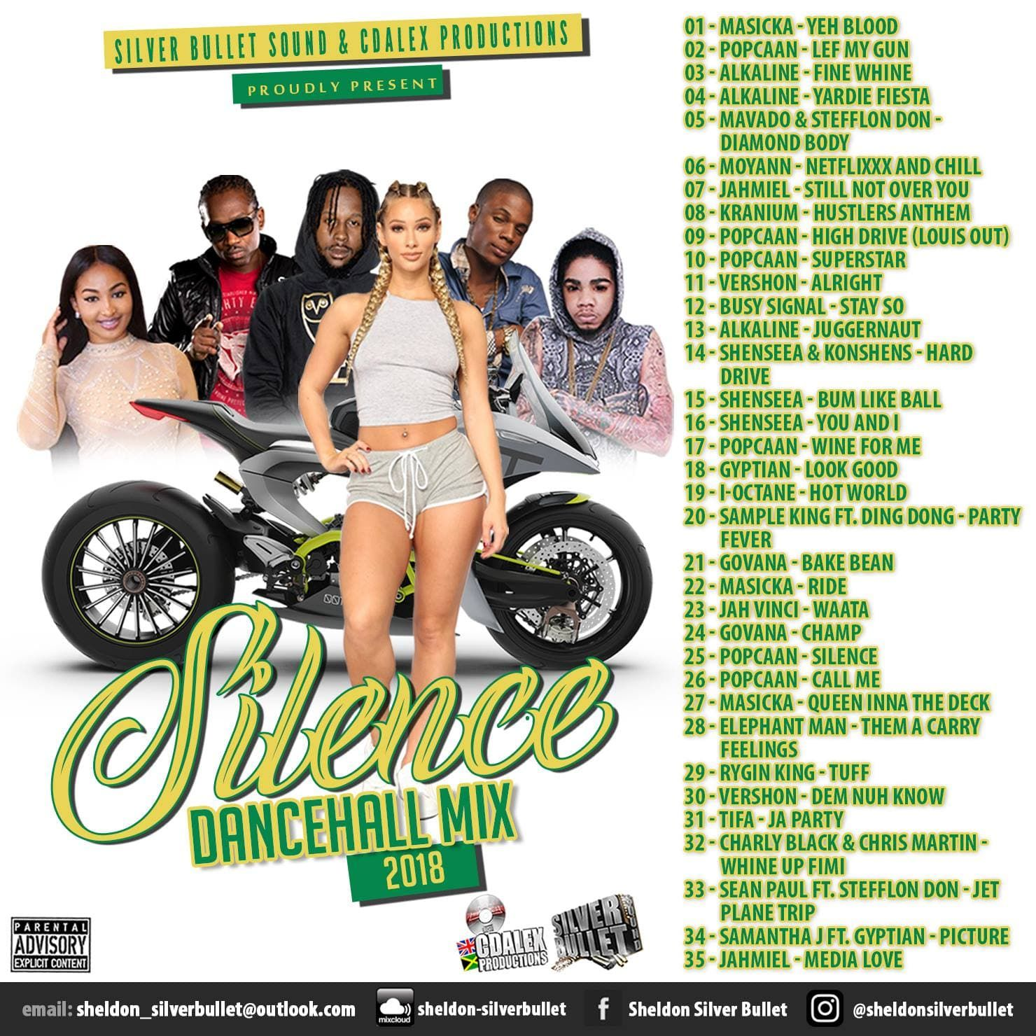 Popcaan - Call Me by Silver Bullet Sound - Silence (Dance Hall Mix