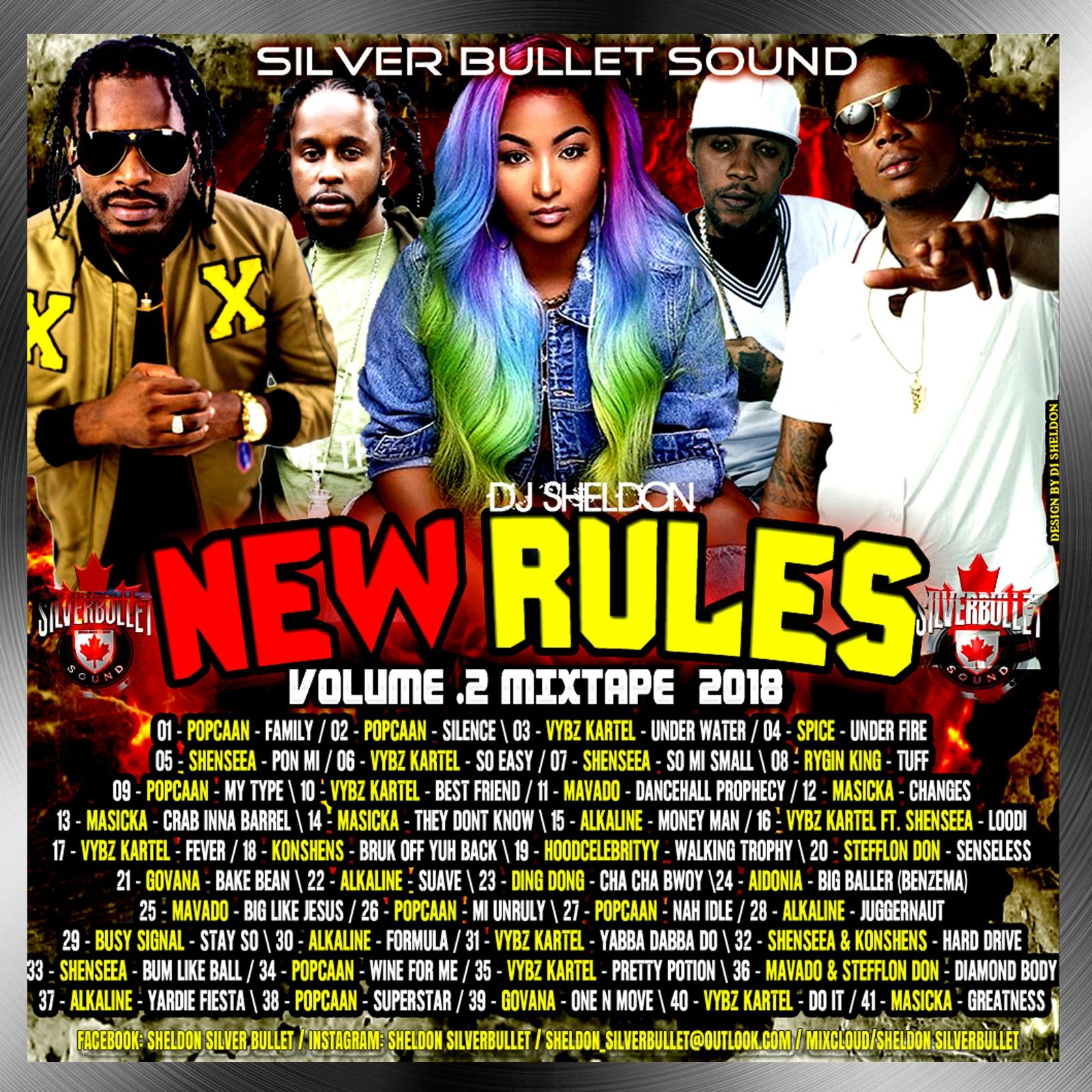 Silver Bullet Sound - New Rules Vol 2 Dancehall Mix 2018 by