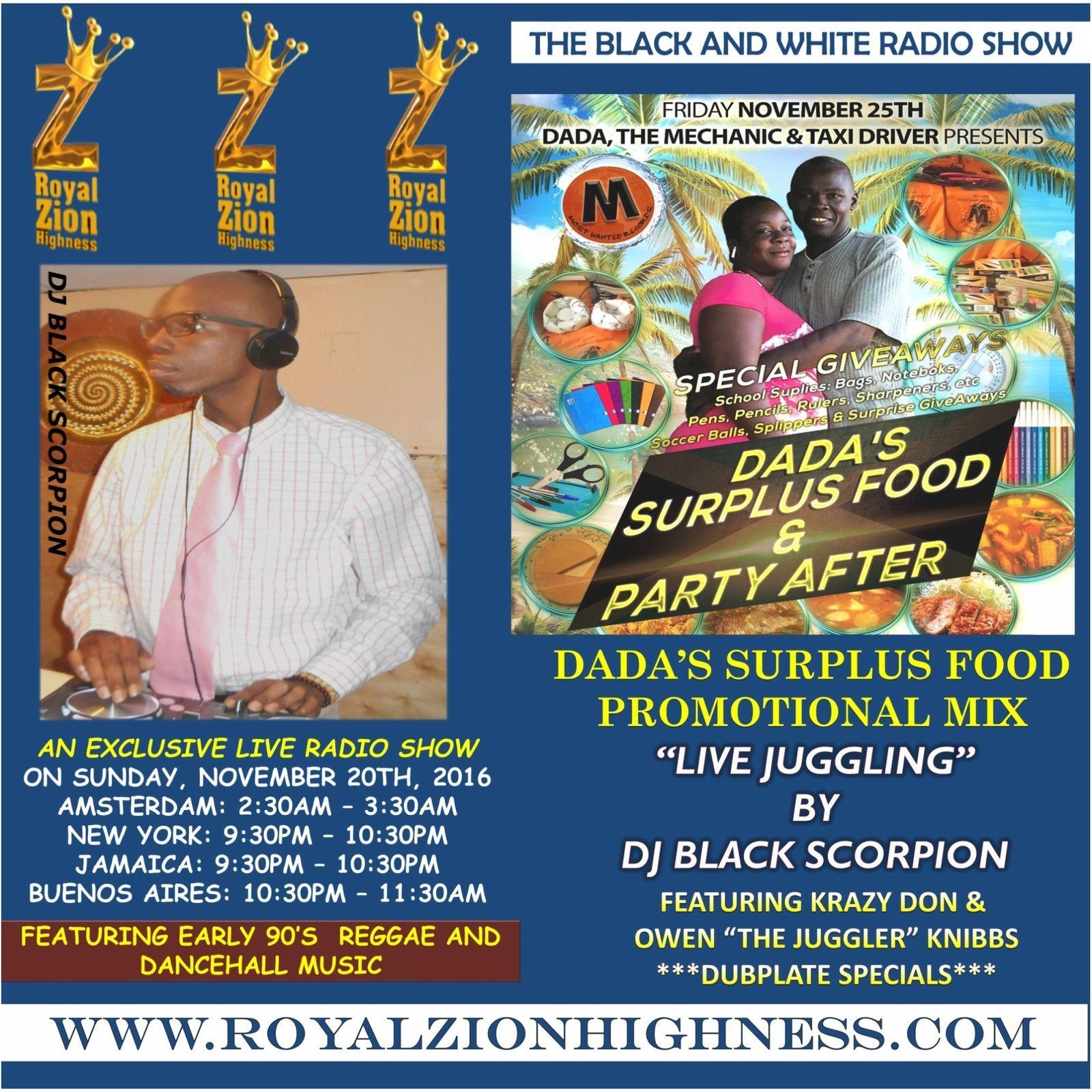 Dada's Surplus Food (Promo) (Ragga, Dancehall Radio Show 2016) by