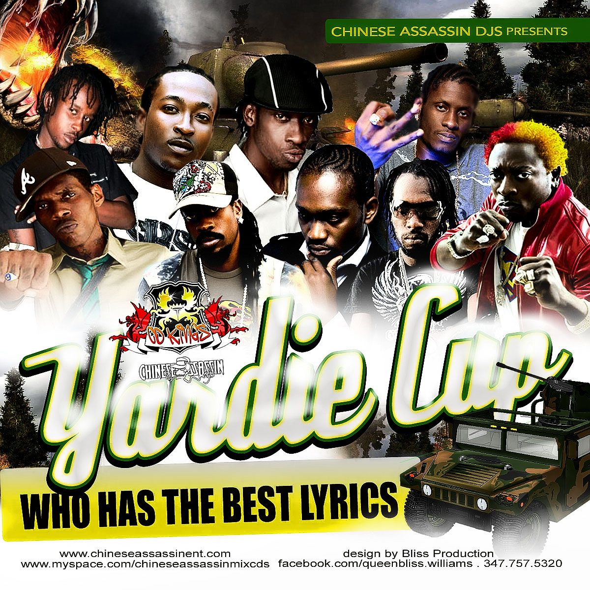 Lyrics containing the term: yardie