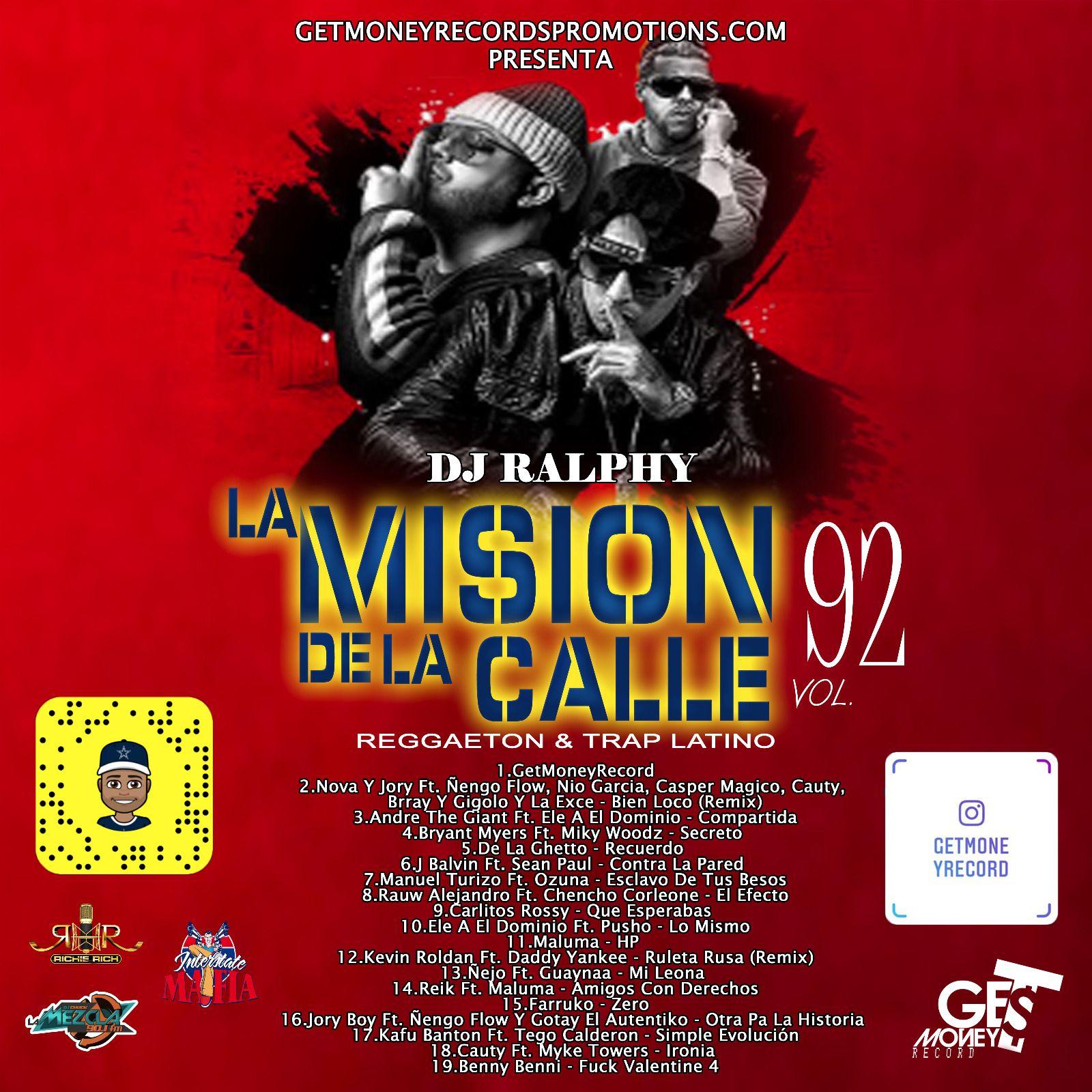 Reggaeton & Trap Latino La Mision De La Calle Vol 92 (2019) by Ozuna