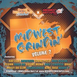 Hood Illustrated - HOOD Illustrated x MidwestMixtape.com Presents: Midwest Grindin' Vol.2 Cover Art
