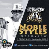 Keep It Real Fridays - Noble Sets The Record Straight ft Noble Styles Cover Art