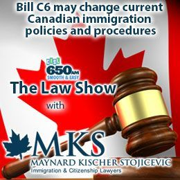 Maynard Kischer Stojicevic - Bill C6 may change current Canadian immigration policies and procedures Cover Art