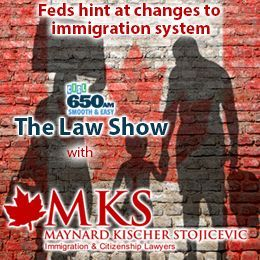 Maynard Kischer Stojicevic - Feds hint at changes to Canadian immigration system Cover Art