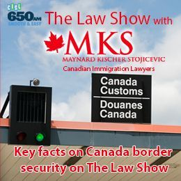 Maynard Kischer Stojicevic - Key facts on Canada border security on The Law Show Cover Art