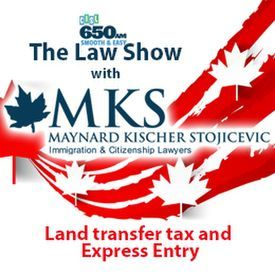 Land transfer tax and Express Entry