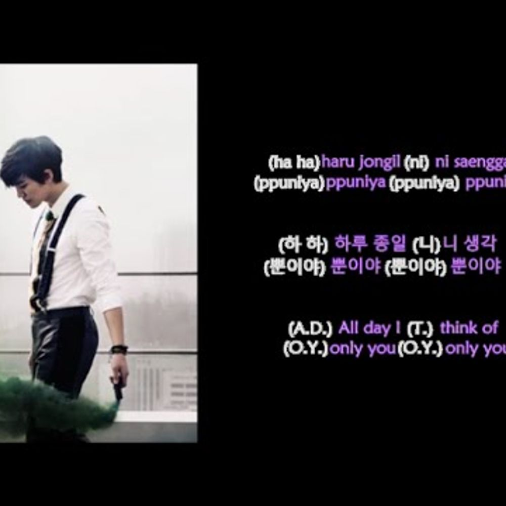 2PM - 하 니 뿐  (A D T O Y ) (Rom-Han-Eng Lyrics) Color