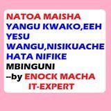 ENOCK BENISON MACHA - natoa maisha yangu kwako,eeh yesu wangu|http://enockmachatz.blogspot.com/ Cover Art