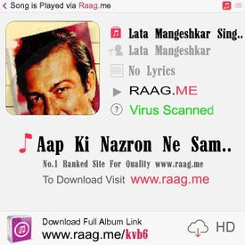 Free ki samjha ne aap lata mangeshkar song nazron download